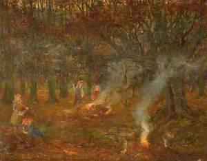 Burning Autumn Leaves