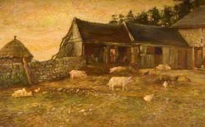 Farmyard Evening, Hale House, Horton