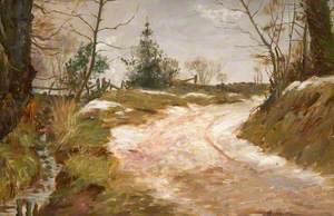 Winter Scene, Heath House Road, Rudyard