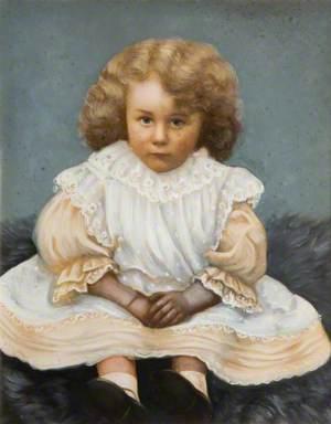 Child on an Animal Fur Rug
