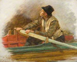 A Man Rowing