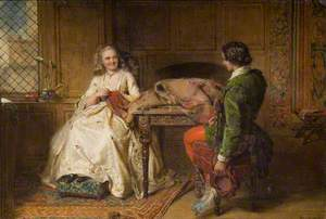 Catherine Seyton and Roland Graeme, from Sir Walter Scott's 'The Abbot'