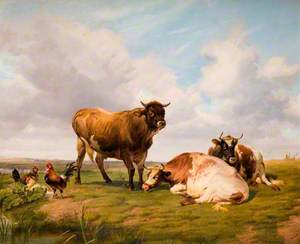 Landscape with Cattle and Fowl