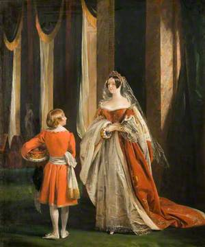 Harriet Elizabeth Georgiana Leveson-Gower, Duchess of Sutherland in Her Coronation Robes
