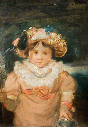 A Child with an Elaborate Headdress