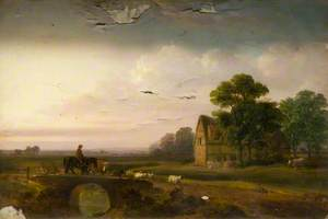 Landscape with Sheep and a Horseman