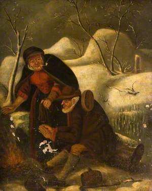 Two Figures in a Winter Landscape