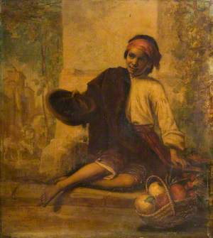 A Boy Selling Fruit