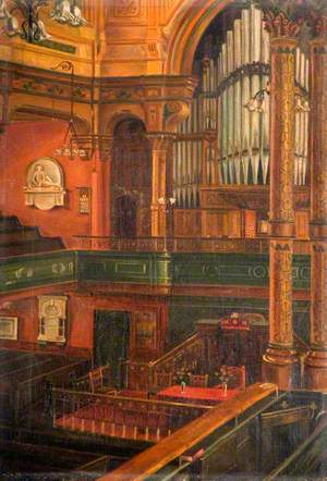 Interior of Queen Street Congregational Church