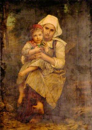 Breton Woman and Child