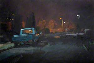 Blue Pickup at Night, Wordsley