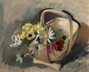 Trug with Dog Daisies: Study for 'Amity'