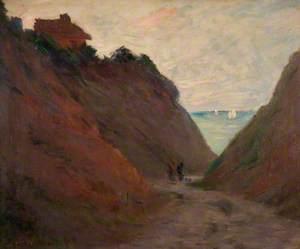 Le chemin creux dans la falaise à Varengeville