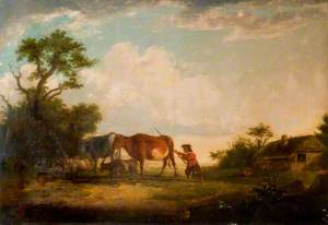 Landscape with Cattle and Cowherd
