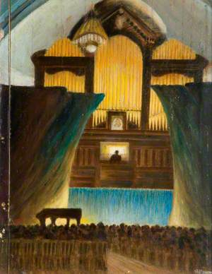 T. W. North Giving an Organ Recital, Walsall Town Hall