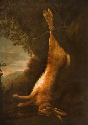 Dead Hare in Landscape