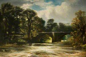 River Scene, Autumn on the Esk