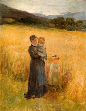Cornfield with Figures