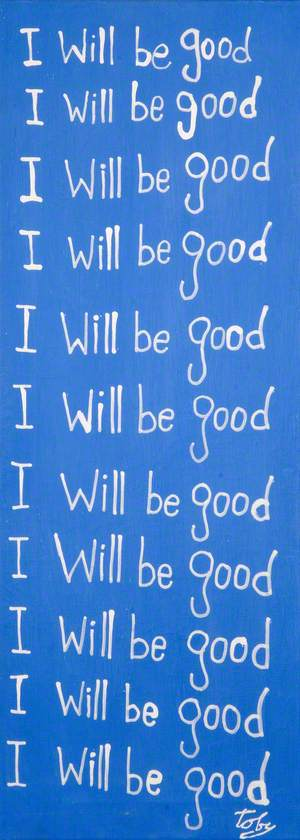 'I will be good'