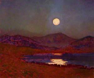 Cregennan Lake by Moonlight