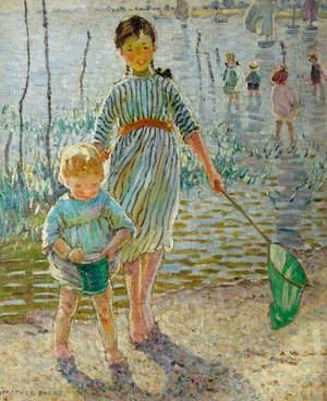 Girl with a Shrimp Net