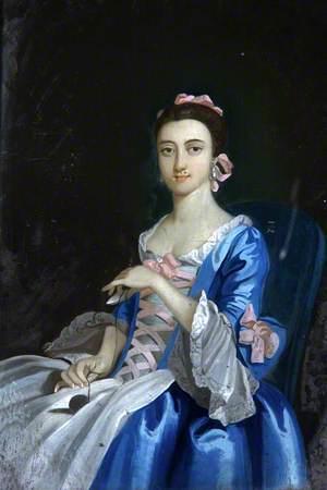 Lady in a Blue Dress