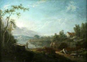 River Scene in Italy