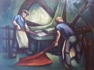 Two Men at Work in a Factory*