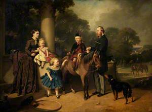 Charles Henry and Mary Crompton-Roberts and Their Children at Field House, Clent