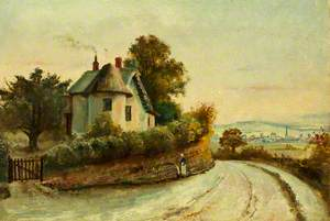Monmouth from the Staunton Road with a Cottage and a Spring