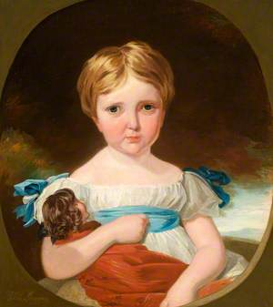 Portrait of a Child with a Doll