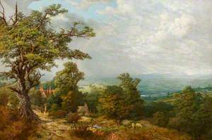 View of Chorlton Hill, Shropshire