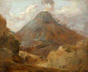 Travellers Passing beneath a Volcano