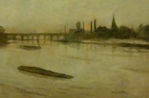 Misty Moonrise, Battersea Reach