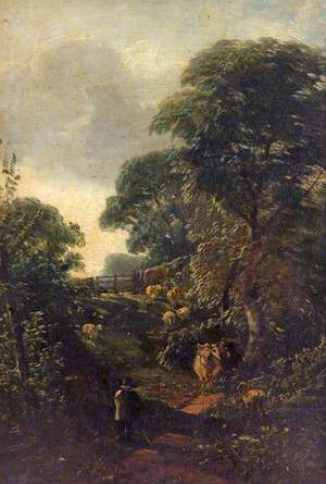 Landscape with Figure and Cows