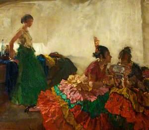 Gitana Dancers Resting, Albaicin, Granada
