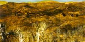 Landscape in Brown, Orange and Cream