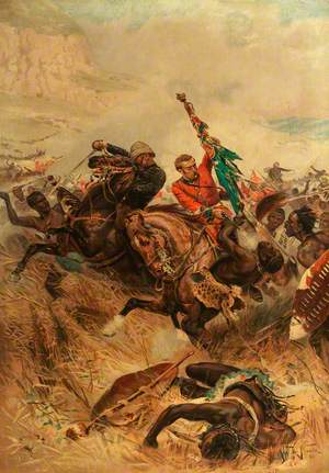 Saving the Queen's Colour at the Battle of Isandlwana