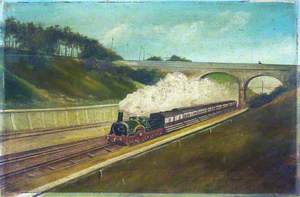 Broad Gauge Train on a Dual-Gauge Track