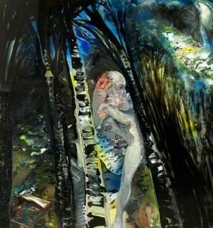 Day of Purim No. 2, Fleeing Man (Koidanovo Forest)