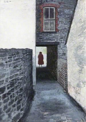 Woman in a Passageway