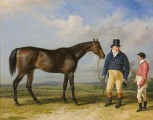 'Rockingham', with His Owner, John Theobald, and Jockey, Jem Robinson