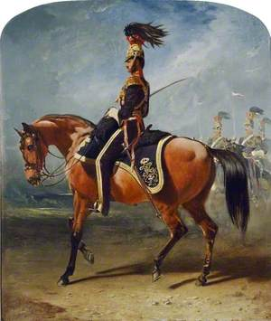 Charles Sabine Augustus Thellusson (1822–1885), as Captain, 12th Royal Lancers