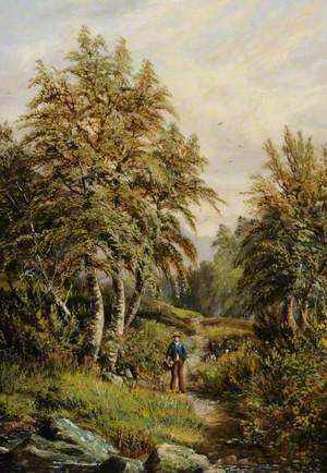 Wooded Scene with Figures