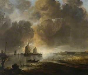 Coast Scene with a Fishing Boat