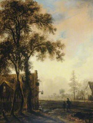 Village Landscape at Dusk