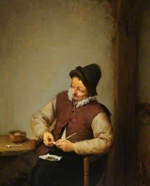 A Peasant Filling His Pipe