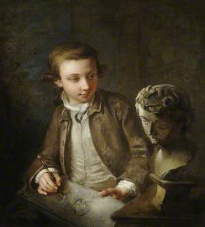 A Boy Drawing from the Antique
