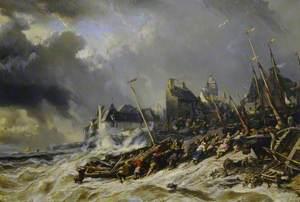 Hurricane before Saint-Malo, France