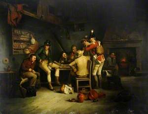 Tavern Scene with a Soldier